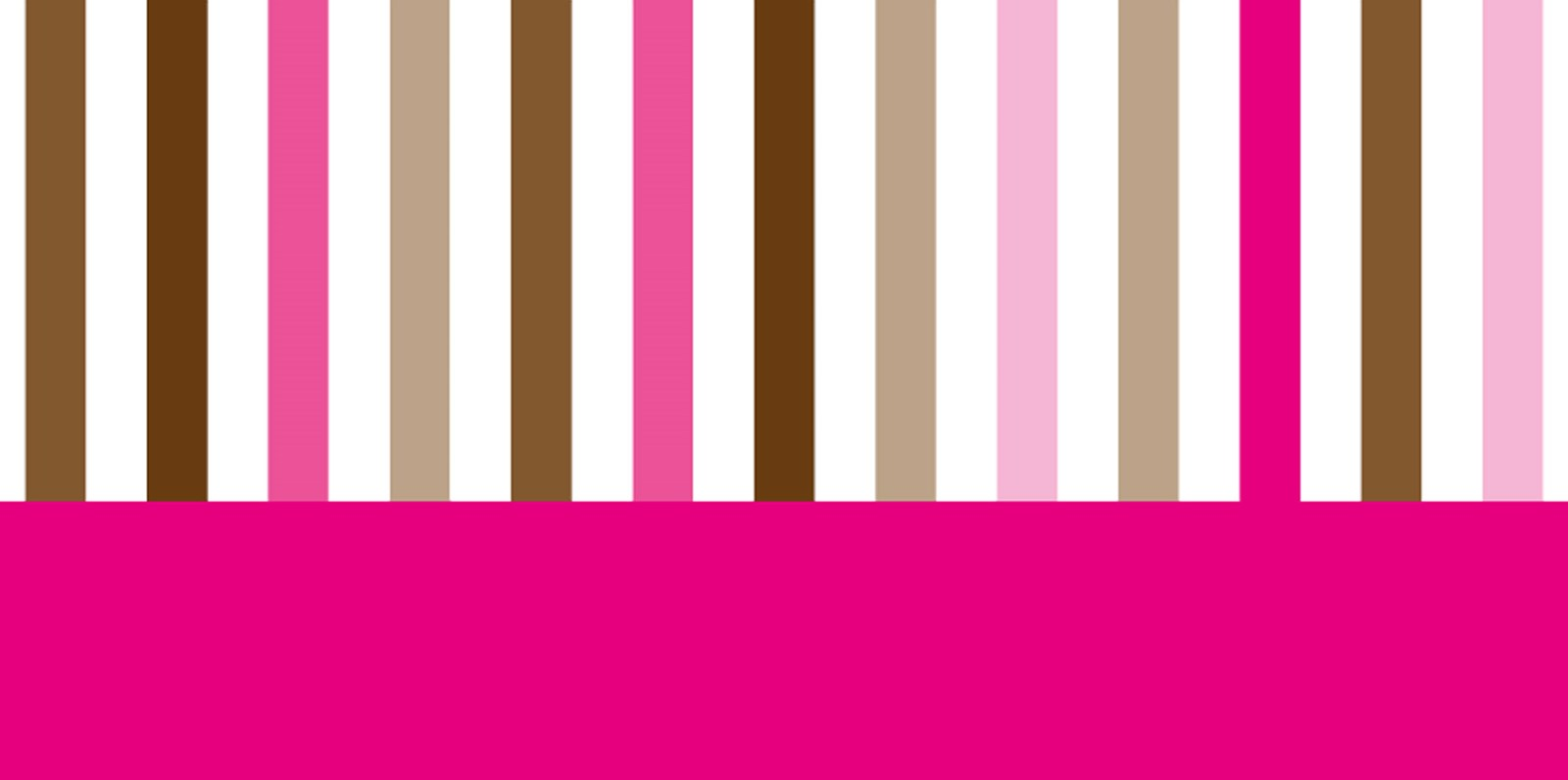 Pink and brown banner