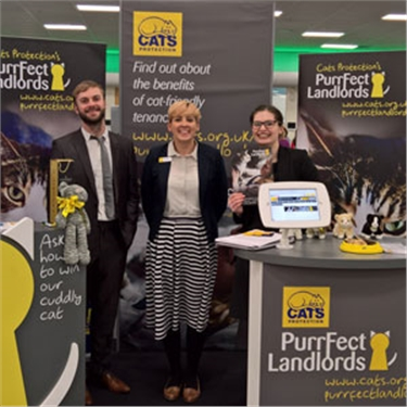 Purrfect Landlords stand