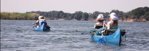 Canoes on the Zambezi