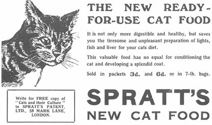 Spratt's cat food advert 1934