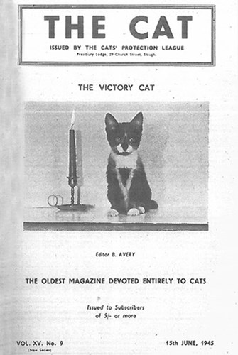 The Cat magazine cover 1945