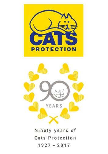 Cats Protection 90th anniversary logo