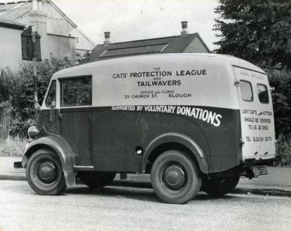 old ambulance van used for the Cats Protection League