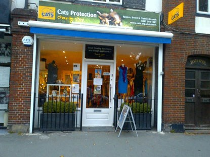 Cats Protection charity shop front