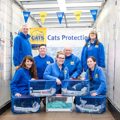 Bulwell Cat Watch team with humane cat traps