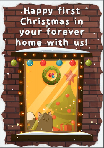 Cats Protection downloadable Christmas card – forever design