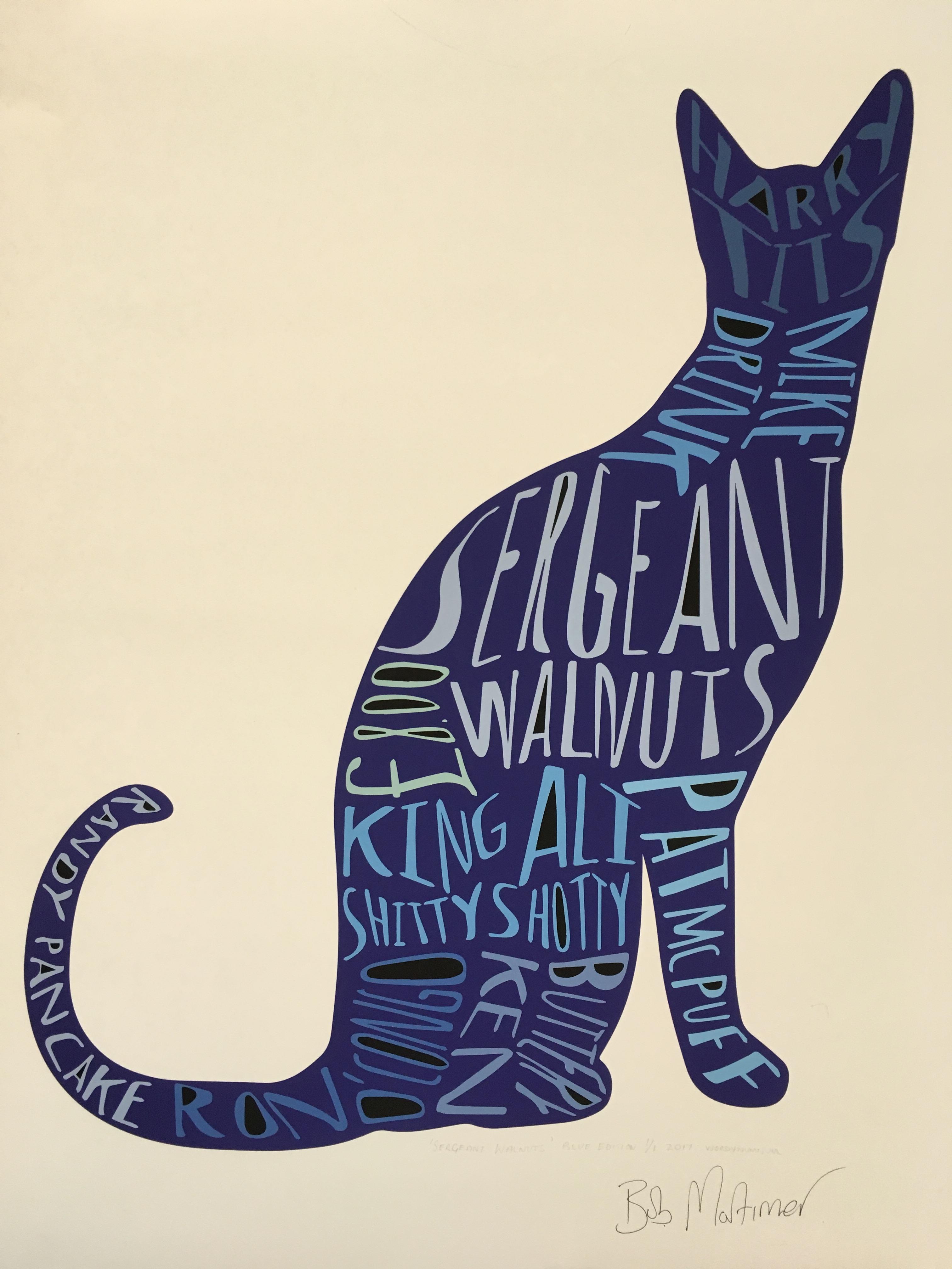 Bob Mortimer cat print