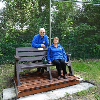 Fay and John memorial bench