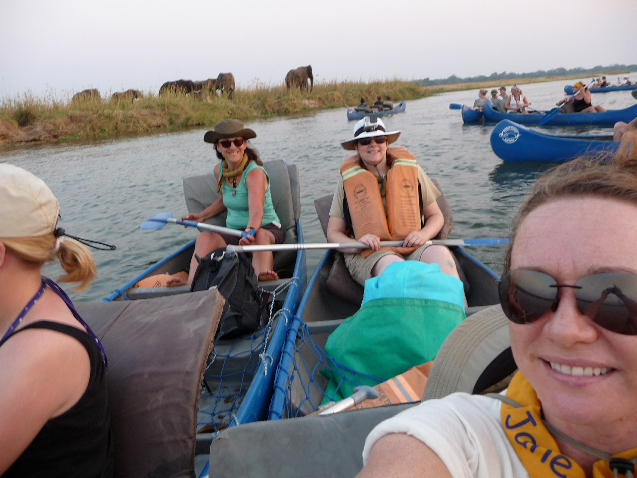 Canoeing selfie