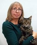 Linda Upson and her cat