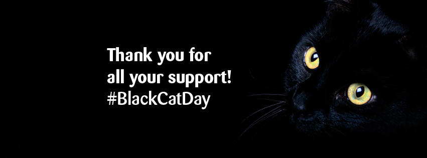 thank you for your support black cat day banner