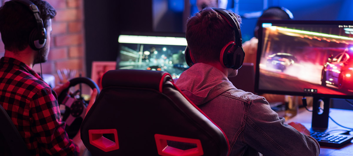 Gamer at event