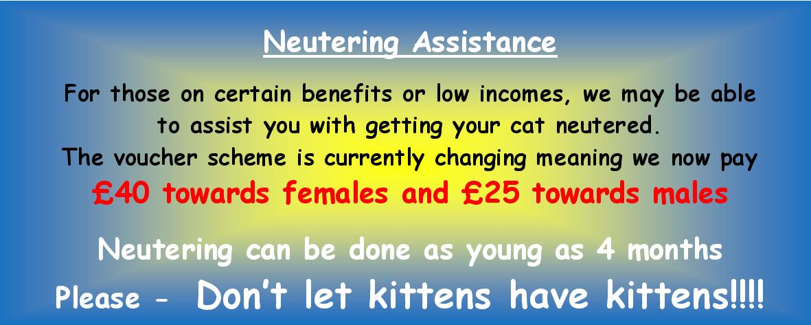 help with the cost of neutering