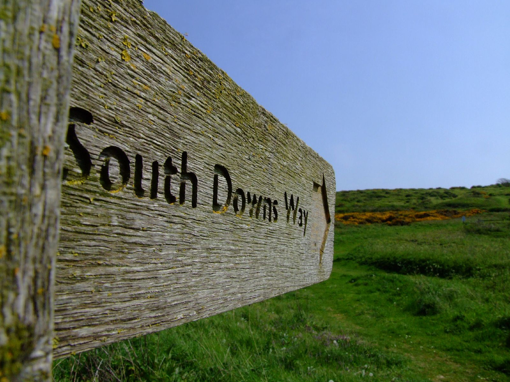 South Downs Way sign