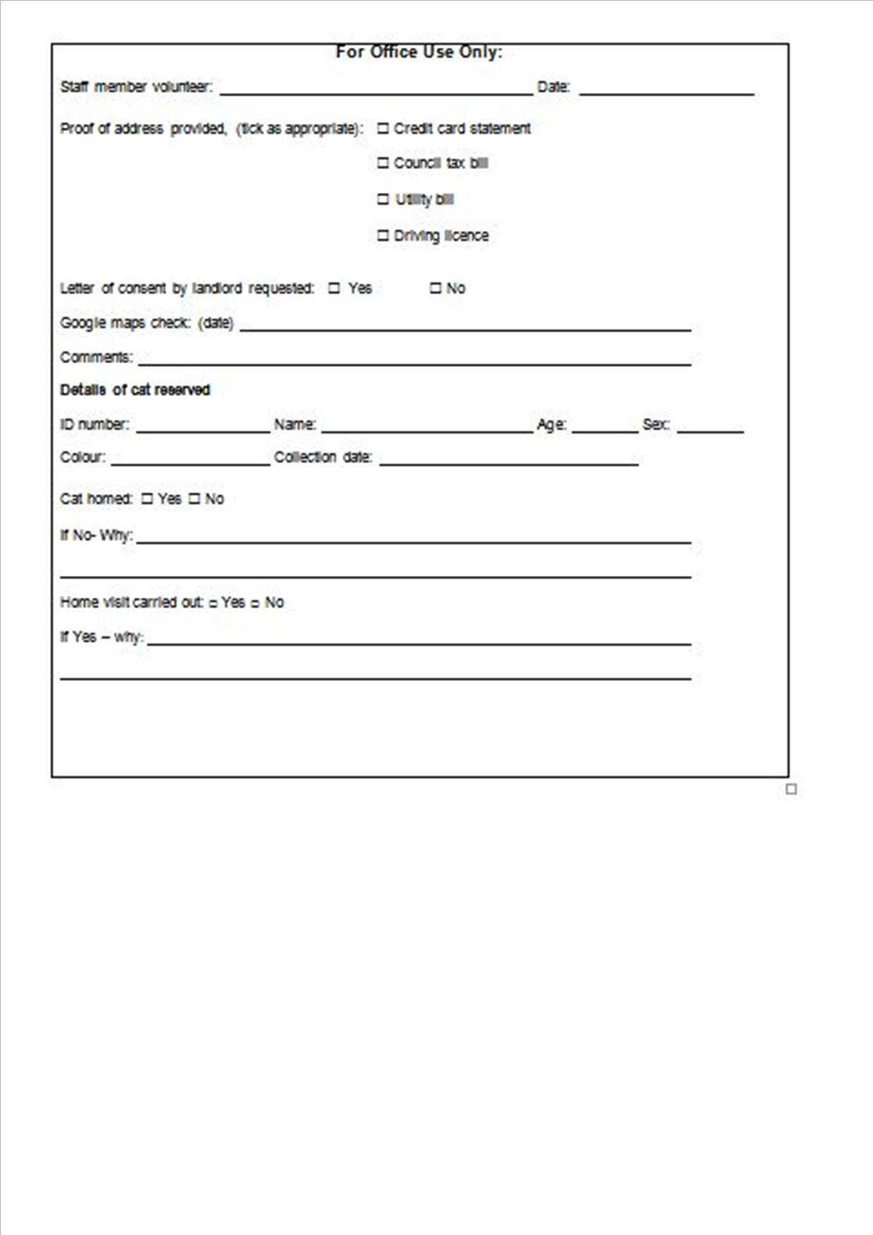 dating questionnaire form