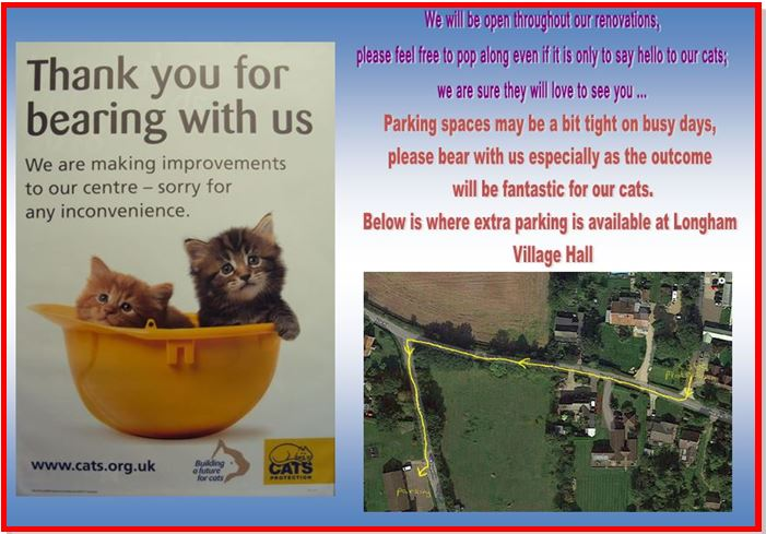 parking at Dereham Cats Protection