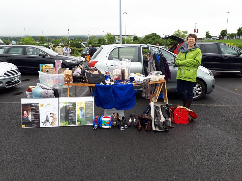 Fran at the Bolton Wanderers Boot Sale