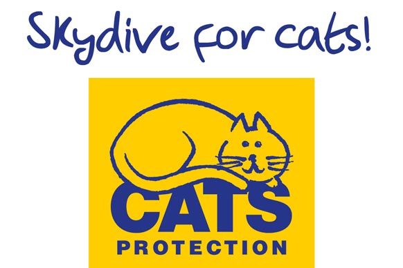 Skydive for cats logo cats protection