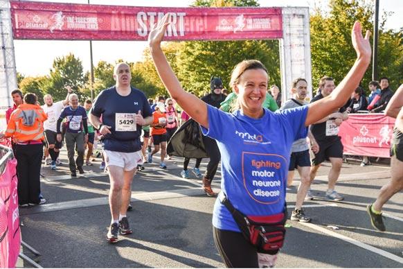 Yorkshire marathon participant