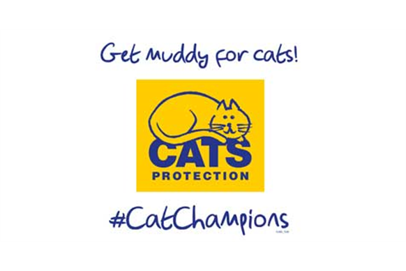 Get muddy for cats logo