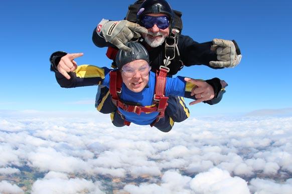 Rachael skydiving