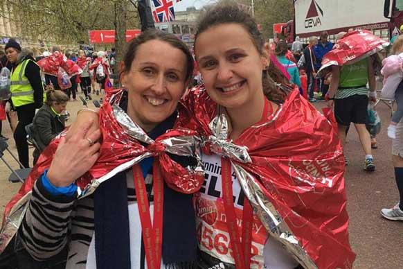 London marathon participants