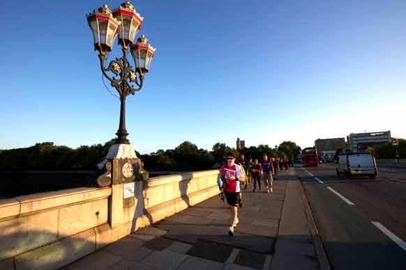 Thames path challenge participants