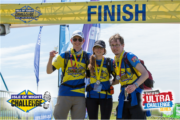 Isle of Wight challenge finish line