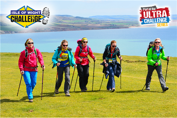 Female walkers Isle of Wight challenge