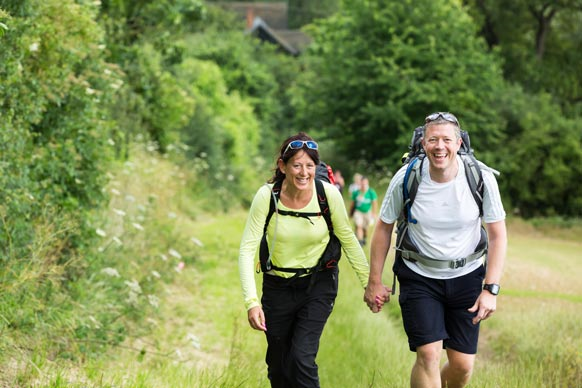 Walkers taking part in Cotswold Way Challenge