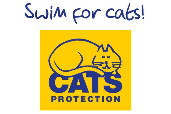 swim for cats protection logo