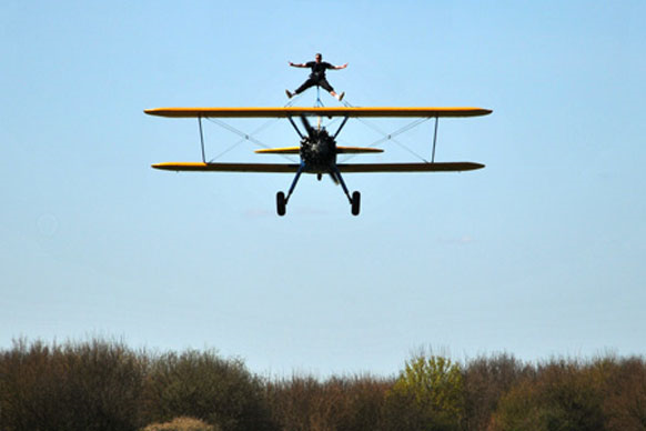 wing walking participant