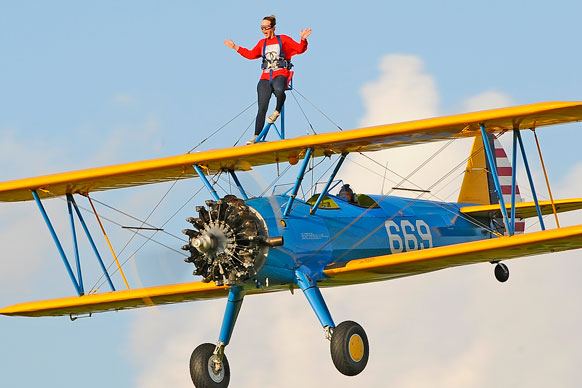 Participant wingwalking