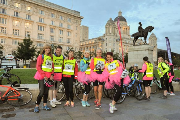 Liverpool group of cyclists