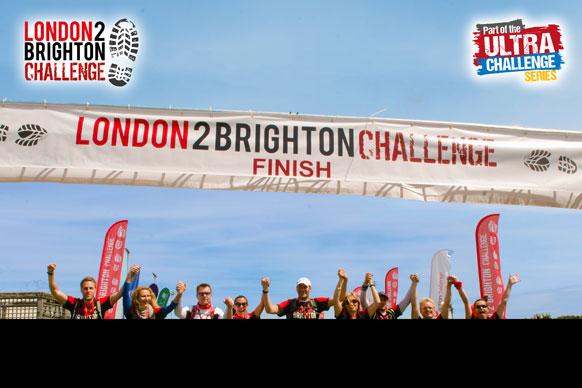London to Brighton finish line