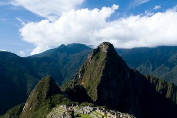 Peak at Machu Picchu