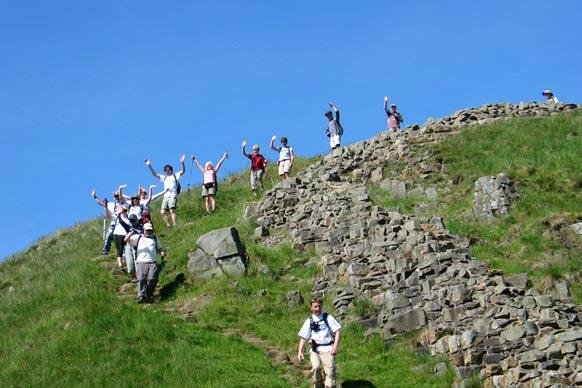 Hadrians wall trekkers