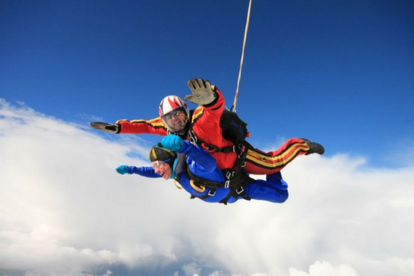 Swansea skydiver freefall