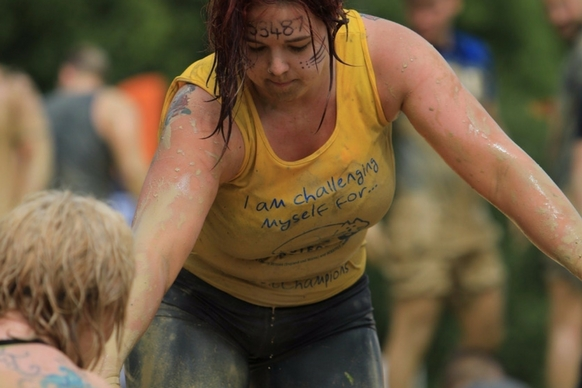 Tough Mudder participant