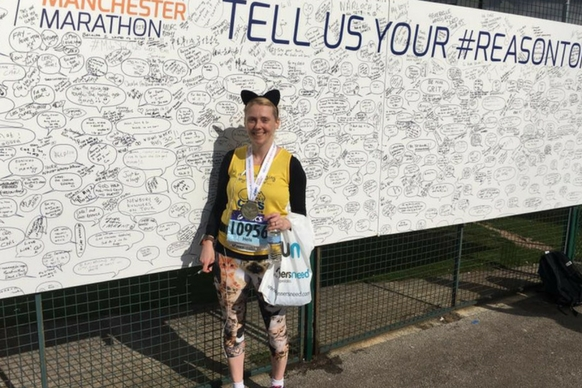 Greater Manchster marathin runner