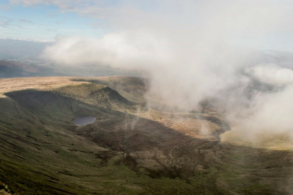 Pen Y Fan foggy