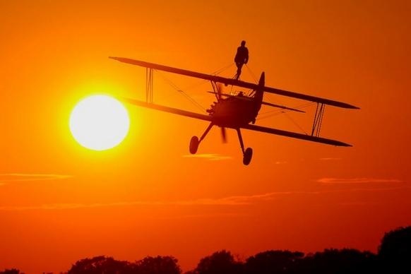 Wing Walk sunset