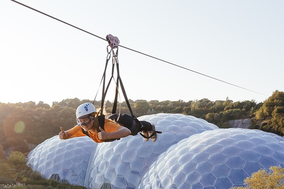 Skywire and biomes Eden Project