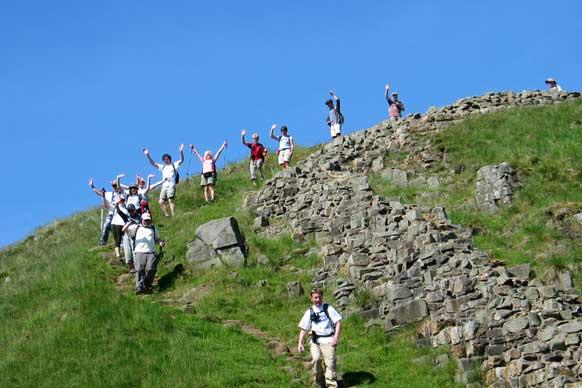 Hadrians wall walkers