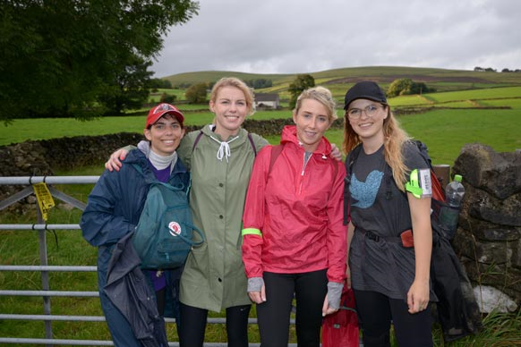 Fundraisers on a trek