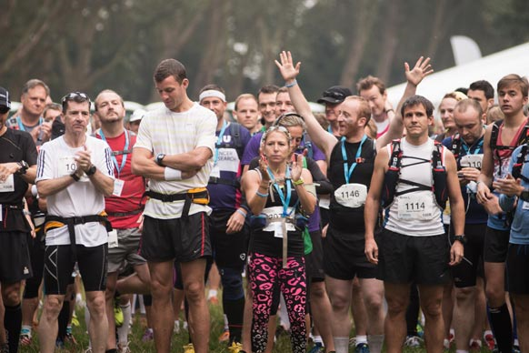 Participants completing Thames Path Challenge