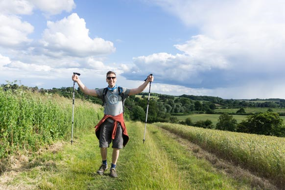 Fundraiser on Cotswold Way