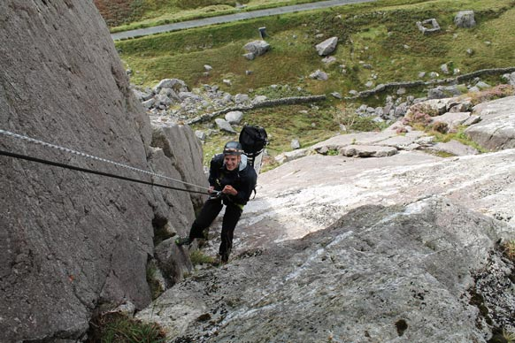 Participant abseiling