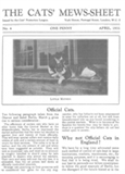 The Cats' Mews-sheet 1931