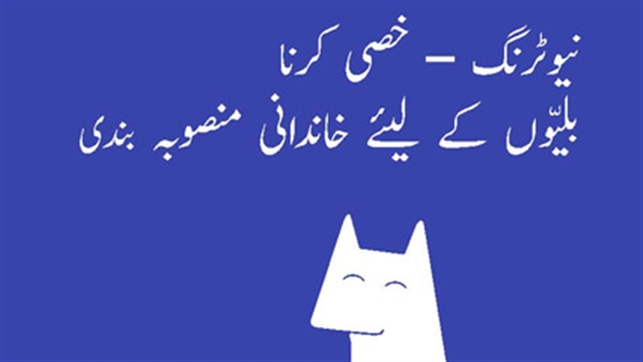 Neutering leaflet translations
